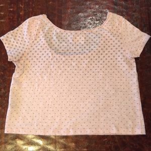 American Eagle Outfitters Tops - American Eagle Vintage T Polka Dot Crop Top